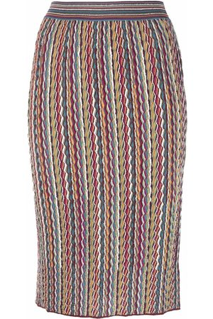 M Missoni Women Printed Skirts - Knitted graphic-print skirt