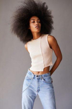 Urban Outfitters Women Tank Tops - UO Sam Spliced Knit Tank Top