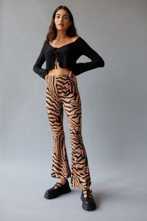 Urban Women Wide Leg Pants - Remnants Cozy Animal Flare Pant