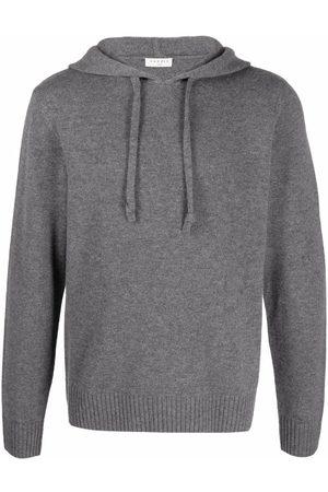 Sandro Men Long sleeves - Knitted long-sleeve hoodie - Grey