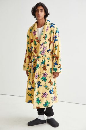 Grateful Dead Men Bathrobes - Allover Print Lounge Robe