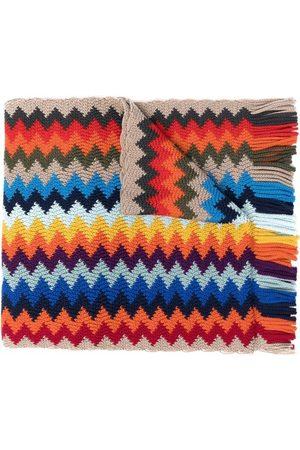 Missoni Men Scarves - Zigzag-knit fringed scarf