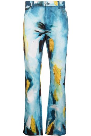 Moschino Paint stroke-print jeans
