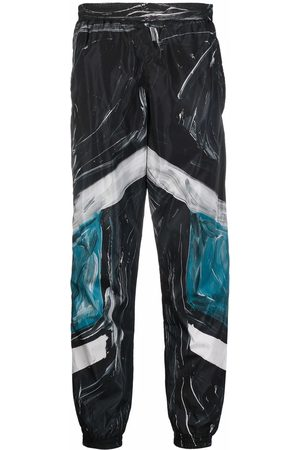 Moschino Paint-stroke panel trousers