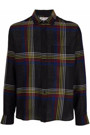 Saint Laurent Men Shirts - Checked wool shirt