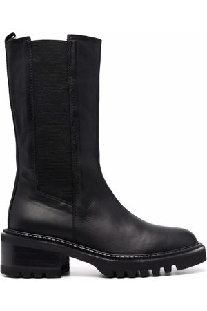 Via Roma Women Boots - Leather calf-length boots