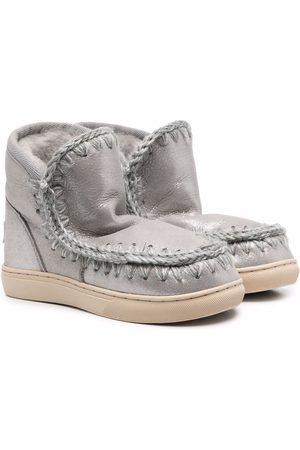 Mou Metallic-effect eskimo boots