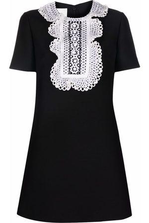 VALENTINO Women Mini Dresses - Lace ruffled minidress