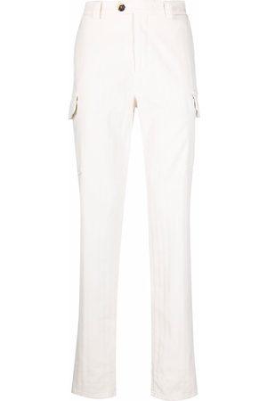 Brunello Cucinelli Men Cargo Pants - Tonal stripe cargo trousers