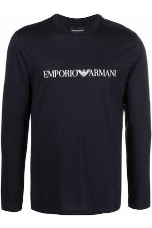 Emporio Armani Men Long Sleeve - Logo-print longsleeved top