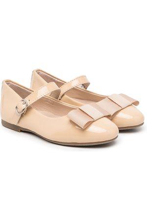 AGE OF INNOCENCE Ellen bow-detail ballerina shoes - Neutrals