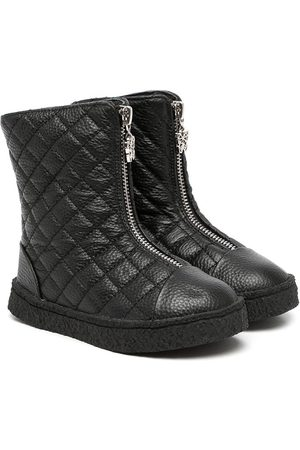 AGE OF INNOCENCE Girls Ankle Boots - Quilted zip-up boots