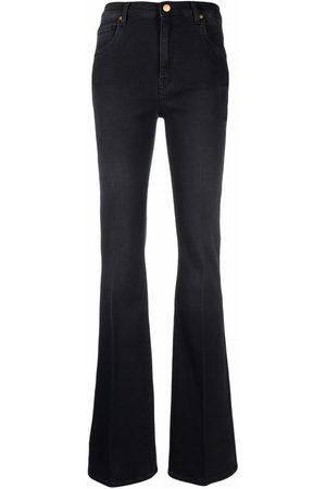Love Moschino Women Flares - Dark-wash flared jeans