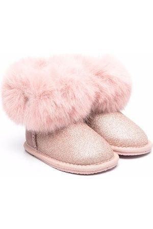 MONNALISA Faux-fur glittered boots