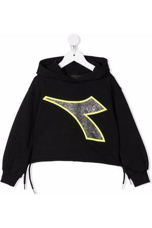 Diadora Boys Hoodies - Logo pullover hoodie