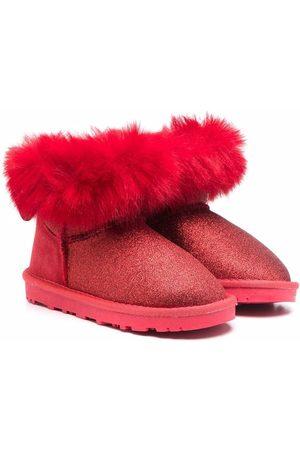 MONNALISA Faux fur-trim suede boots