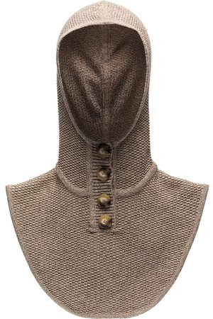 Ruslan Baginskiy Knitted hooded collar - Neutrals