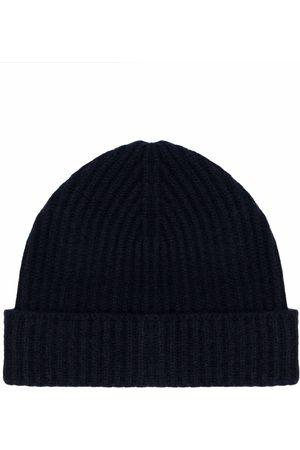 DRUMOHR Men Beanies - Costa ribbed-knit cashmere beanie