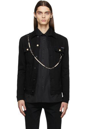 Dolce & Gabbana Men Denim Jackets - Black Denim Pearls Jacket