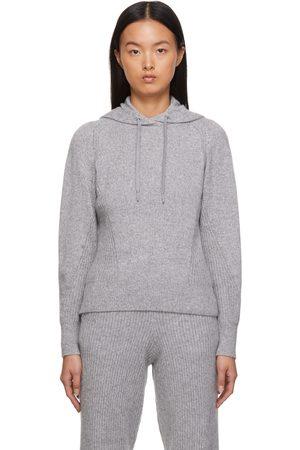 RAG&BONE Women Hoodies - Grey Cashmere Pierce Hoodie