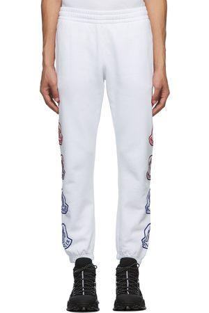 Moncler White Logo Sweatpants