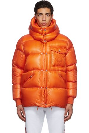 Moncler Men Jackets - Orange Logo Down Jacket