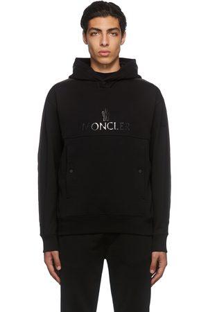 Moncler Men Hoodies - Black Logo Hoodie