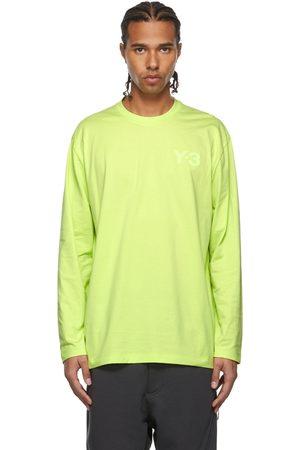Y-3 Yellow Chest Logo Long Sleeve T-Shirt