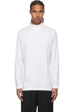 Y-3 White Mock Neck Long Sleeve T-Shirt