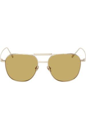 Linda Farrow Women Aviators - Gold Wilder Aviator Sunglasses