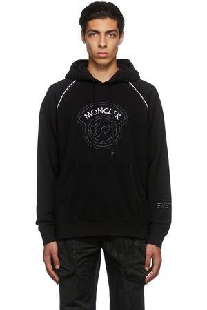 Moncler Genius Men Hoodies - 7 Moncler FRGMT Hiroshi Fujiwara Black Logo Hoodie