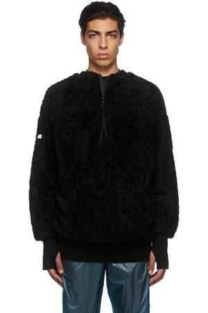 Moncler Genius Men Sweatshirts - 4 Moncler Hyke Black Teddy Fleece Sweatshirt
