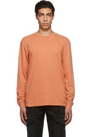 Moncler Genius Men T-shirts - 7 Moncler FRGMT Hiroshi Fujiwara Orange Logo T-Shirt