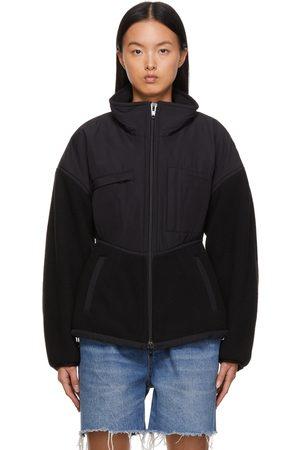 Alexander Wang Black Sculpted Sherpa & Nylon Canvas Jacket