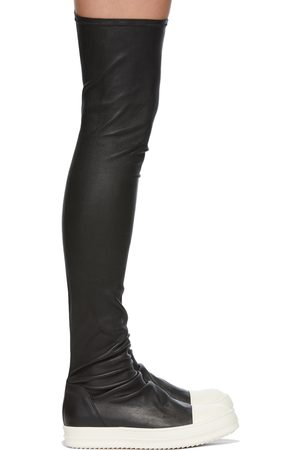 Rick Owens Women Boots - Black Stocking Sneaker Boots