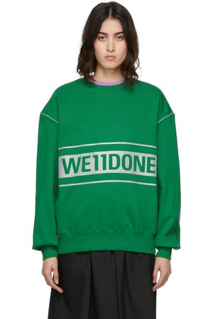 We11 Done Women Sweatshirts - Reflective Logo Sweatshirt