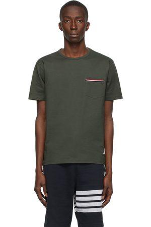 Thom Browne Men T-shirts - Green RWB Pocket T-Shirt