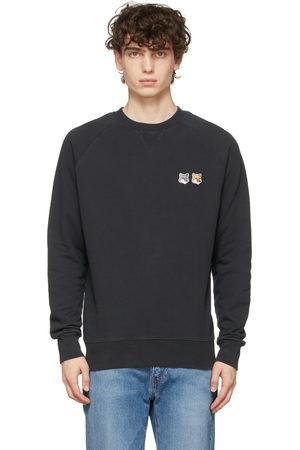Maison Kitsuné Black Double Fox Head Patch Sweatshirt