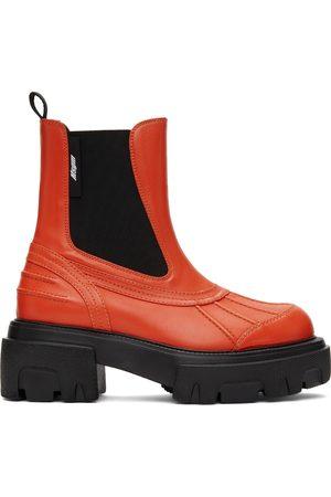 Msgm Sheepskin Chelsea Boots