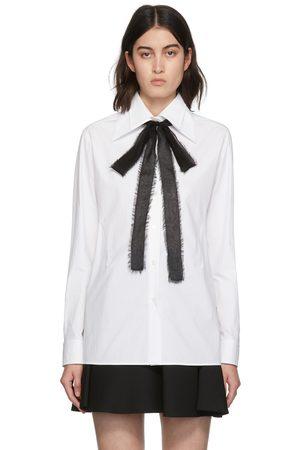 VALENTINO White Oversized Bow Shirt