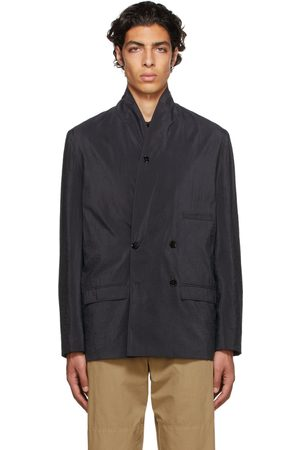LEMAIRE Men Blazers - Belted Double-Breasted Blazer