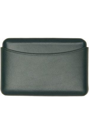 LEMAIRE Men Wallets - Green Molded Card Holder