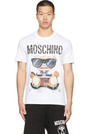 Moschino Men T-shirts - White Mixed Teddy Bear T-Shirt