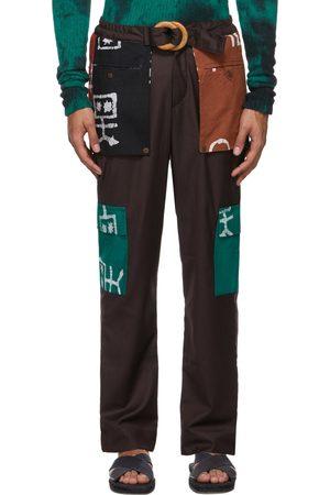Bloke Men Pants - Patch Pocket Trousers