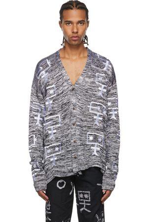 Bloke SSENSE Exclusive Black & White Full Fashion Cardigan