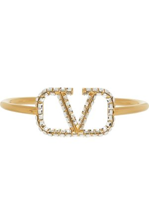 VALENTINO GARAVANI Women Bracelets - VLogo Crystal Cuff Bracelet