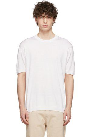 Agnona Off-White Knit Cashmere T-Shirt