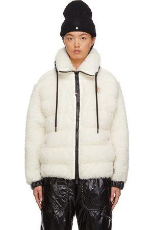 Moncler Women Fleece Jackets - Off-White Teddy Bear Fleece Jacket