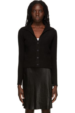 Vince Black Polo Buttoned Cardigan