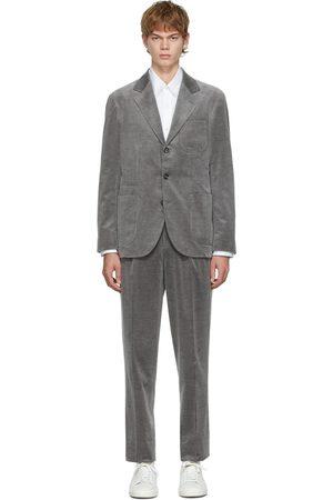 Brunello Cucinelli Men Suits - Grey Corduroy Cashmere Suit
